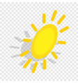 sun isometric icon vector image vector image
