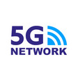 technology icon network sign 5g vector image vector image