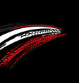 tire poster background vector image vector image