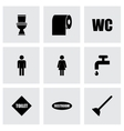 toilet icon set vector image vector image