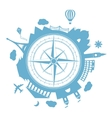 Travel agency round icon vector image vector image