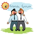Two men stand together vector image