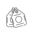 vacuum cleaner bags line icon concept vacuum vector image vector image