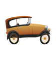 vintage cartoon retro car on white background vector image
