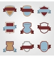 Vintage heraldry shields and ribbons retro style vector image