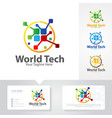 world tech logo designs vector image