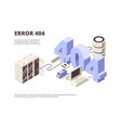 404 page web technology error hosting problems vector image