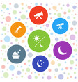 7 astronomy icons vector image vector image