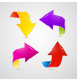 Abstract Colorful Arrows Set vector image vector image