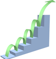 Arrow business chart vector image vector image
