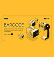 barcode scanning service website template vector image vector image