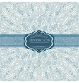 Beautiful blue invitation card vector | Price: 1 Credit (USD $1)