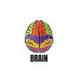 brain icon or logo design vector image vector image