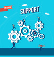 business marketing web support vector image vector image