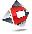 C 3d letter vector image