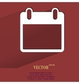 Calendar Flat modern web button with long shadow vector image