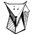 Cartoon fox vector image vector image