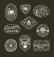 collection of outdoor emblems vector image vector image