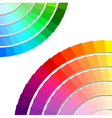 color spectrum palette vector image vector image