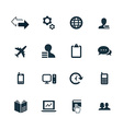 company icons set vector image vector image