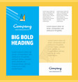 cone cap business company poster template with vector image