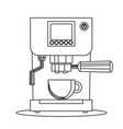 contour icon coffee machine with a mug vector image vector image