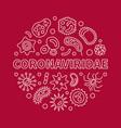 coronaviridae concept linear minimal vector image vector image