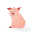 cute pig sit cartoon symbol of the year 2019 vector image vector image