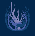 deep in the forest deer vector image vector image