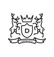 deer coat arms heraldic logo icon