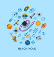 digital black holes and cosmos vector image vector image