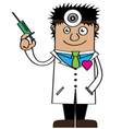 Doctor of love cartoon vector image