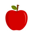 eco fresh red apple icon flat style vector image vector image
