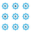 file icons colored set with file html file gif vector image vector image