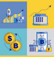 fintech business related vector image