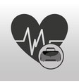 fitness sport bag icon heart vector image