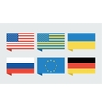 Flags of countries USA Ukraine European Union vector image vector image