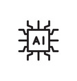 flat line artificial intelligence icon symbol vector image