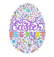 floral easter egg vector image vector image