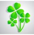 four-leaf clover for luck happiness green three vector image
