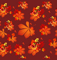 funny texture autumn leaves chestnut leaves of vector image