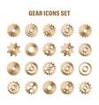 gear wheels set retro vintage metal cogwheels vector image vector image