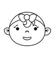 Girl cartoon icon Baby concept graphic