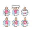 Girl in white shorts and a pink T-shirt vector image vector image