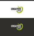 green apple logo vector image vector image
