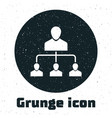 grunge referral marketing icon isolated on white vector image vector image