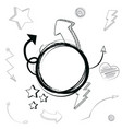 hand draw elements cartoons vector image