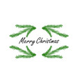 hand drawing christmas tree vector image vector image