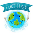 happy earth concept background vector image