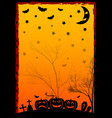 holiday poster for halloween vector image vector image